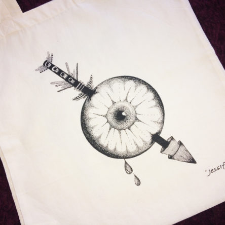 Tote bag Illustré « Oeil » 100% coton bio