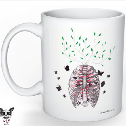 Mug illustré « Cage thoracique »